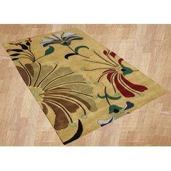Alliyah Handmade Cornstalk New Zealand Blend Wool Rug (5' x 8')