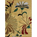 Alliyah Handmade Metro Flower Cornstalk New Zealand Blend Wool Rug (5' x 8')