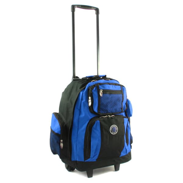Roll-Away 18-inch Deluxe Rolling Unisex Polyester Carry-on Backpack