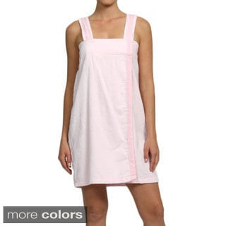 Aegean Women's Zero Twist Cotton Gingham Trim Shower Wrap