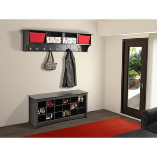 Broadway Black Shoe Storage Cubbie Bench