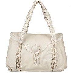 Made in Italy Desmo Ivory Deerskin Satchel