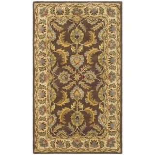 Safavieh Handmade Heritage Kerman Brown/ Ivory Wool Rug (4' x 6')