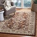 Handmade Heritage Kerman Brown/ Ivory Wool Rug (5' x 8')
