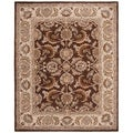 Handmade Heritage Kerman Brown/ Ivory Wool Rug (8&#39; x 10&#39;)