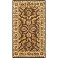 Safavieh Handmade Heritage Kerman Brown/ Ivory Wool Rug (8' x 11')