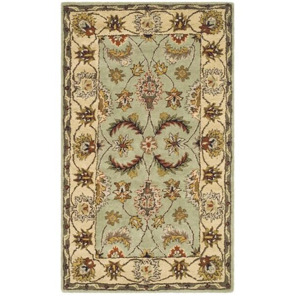 Safavieh Handmade Heritage Oushak Light Green/ Ivory Wool Rug (4' x 6')