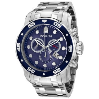 Invicta Men's Pro Diver Blue Dial Chronograph Watch