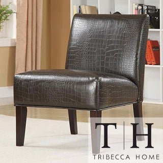 Decor Faux Alligator Leather Print Lounge Chair