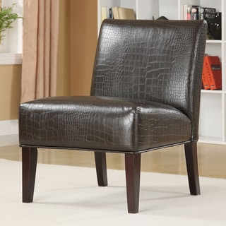 TRIBECCA HOME Decor Faux Alligator Leather Print Lounge Chair
