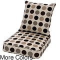 Clara Wicker Lounge Chair Cushion Set with Sunbrella Fabric-Designer