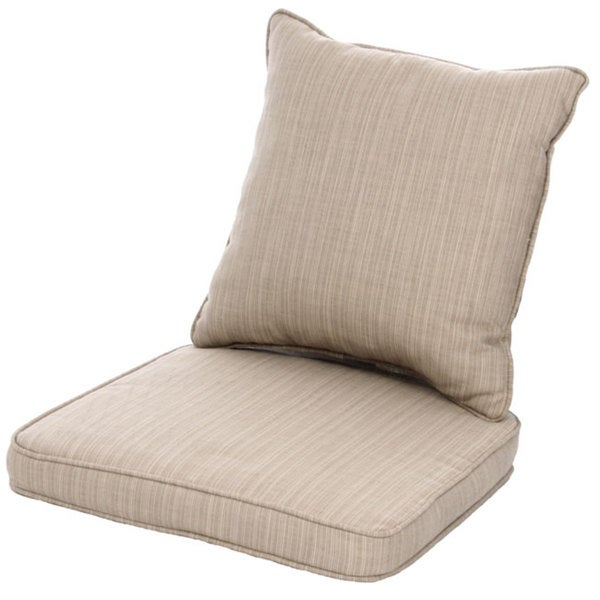 Clara wicker outdoor dining chair cushion back throw for Chair pillow