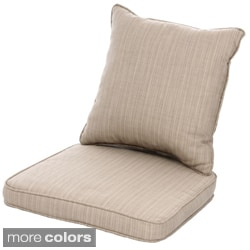 Clara Wicker Outdoor Dining Chair Cushion/ Back Throw Pillow with Sunbrella Fabric