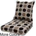 Clara Wicker Dining Chair Cushion Set with Sunbrella Fabric- Designer