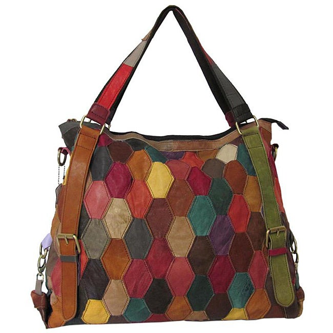 Amerileather 'Miya' Leather Tote Bag