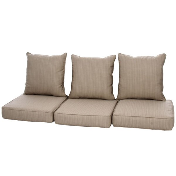 clara indoor outdoor wicker sofa cushion set made with sunbrella fabric 12920277 overstock. Black Bedroom Furniture Sets. Home Design Ideas