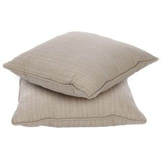 Clara 18-inch Indoor/ Outdoor Throw Pillows with Sunbrella Fabric (Set of 2)