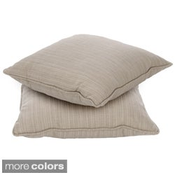 Clara 18-inch Indoor/ Outdoor Throw Pillows with Sunbrella Fabric (Set of 2)