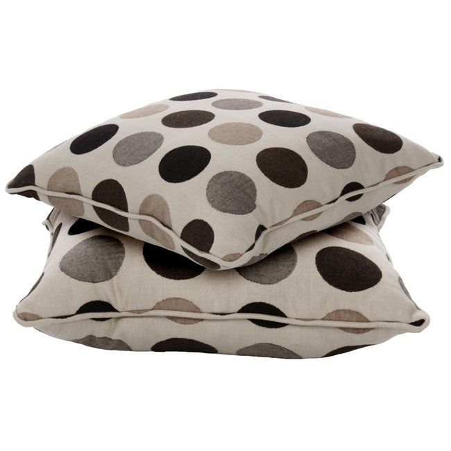 18-inch Indoor/ Outdoor Throw Pillows with Sunbrella Fabric (Set of 2) - Designer