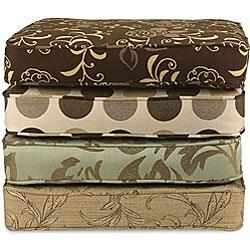 18-inch Indoor/ Outdoor Throw Pillows with Sunbrella Fabric (Set of 2) - Designer