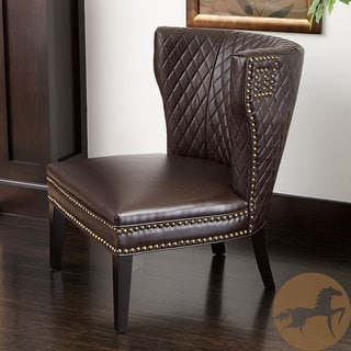 Christopher Knight Home Tessa Brown Bonded Leather Quilted Chair