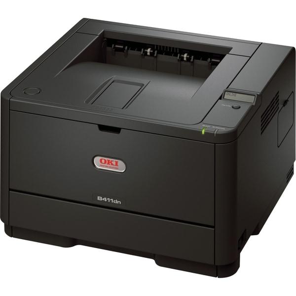 Oki B400 B411DN LED Printer - Monochrome - 2400 x 600 dpi Print - Pla