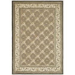 Paradise Eden Dark Brown Viscose Rug (7'10' x 11'2)
