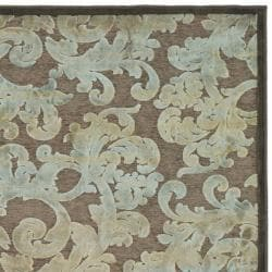 Paradise Resorts Dark Brown Viscose Rug (2'7 x 4')
