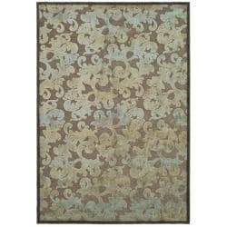 Paradise Resorts Dark Brown Viscose Rug (7'10' x 11'2)