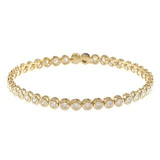 NEXTE Jewelry 14k Gold Overlay Clear Cubic Zirconia Tennis Bracelet