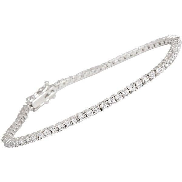 NEXTE Jewelry Silvertone Clear Cubic Zirconia Micro Tennis Bracelet