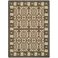 "Indoor/Outdoor Black/Sand Polypropylene Rug (6'7"" x 9'6"")"