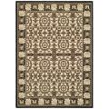 "Indoor/Outdoor Traditional-Pattern Black/Sand Rug (7'10"" x 11')"