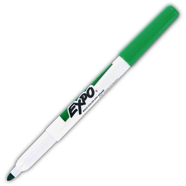 Expo Low Odor Fine Point Green Dry Erase Markers (Pack Of 12)