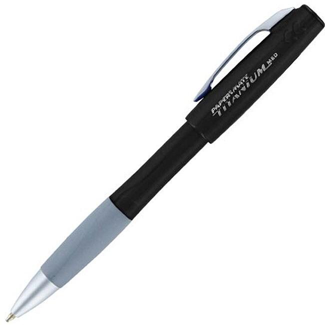 Papermate Titanium Retractable Ballpoint Pens (Pack of 12)