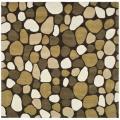 Handmade Pebbles Dark Brown/ Multi N. Z. Wool Rug (6' Square)