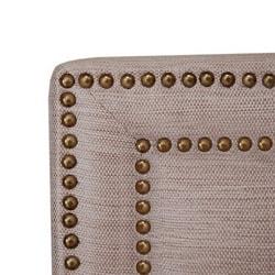 Victoria Natural Fabric Queen-size Headboard