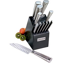 Oneida 13-piece Stainless Steel/ Lacquer Knife Block Set