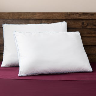 SwissLux Memory Loft Supreme European Styled Memory Foam and Fiber Gusseted Bed Pillows (Set of 2)