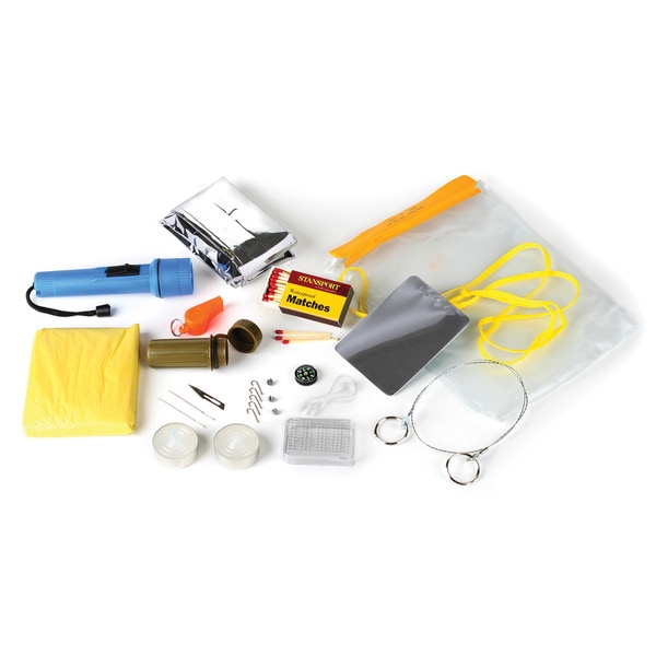 Stansport Waterproof Emergency Survival Kit with Blanket and Compass