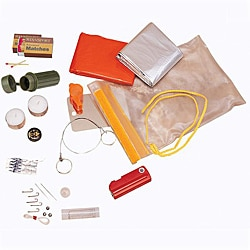 Waterproof Stansport Emergency Survival Kit with Blanket and Compass