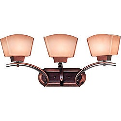 Oslo 3-light Burnished Copper Vanity
