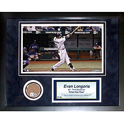 Steiner Sports Evan Longoria 11x14 Mini Dirt Collage