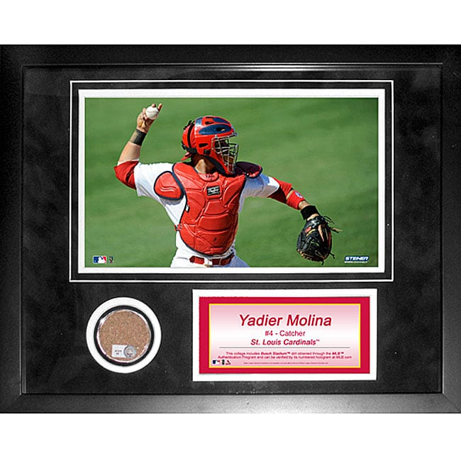 Steiner Sports Yadier Molina 11x14-inch Mini Dirt Collage