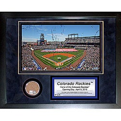 Steiner Sports Coors Field Mini Dirt Collage