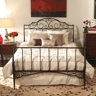 TRIBECCA HOME Camelia Graceful Scroll Bronze Iron Full-sized Sleigh Bed