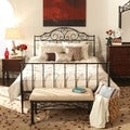 TRIBECCA HOME Camelia Graceful Scroll Bronze Iron Queen-sized Sleigh Bed