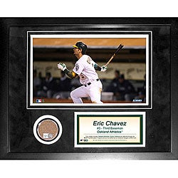 Steiner Sports Eric Chavez 11x14 Mini Dirt Collage