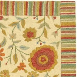 Safavieh Handmade Jardine Ivory Wool Rug (9'9 x 13'9)