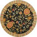 Handmade Jardine Black Wool Rug (7'9 Round)